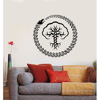 Vinyl Wall Decal Tree Of Life Infinity Symbol Ouroboros Stickers (3151ig)