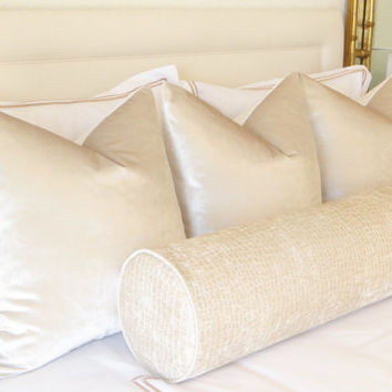 Faux Silk Velvet // Alabaster Pillow COVER ONLY