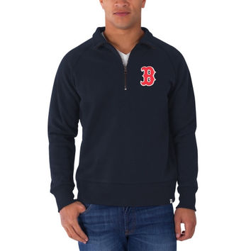 Boston Red Sox '47 Brand Cross Check 1/4 Zip Pullover Sweatshirt – Navy Blue