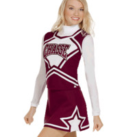 In-Stock Double-Knit Star Panel Cheerleading Uniform Skirt