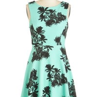 ModCloth Short Length Sleeveless A-line Palm Springs Sweet Dress