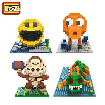 LOZ Pixels Figure Building Blocks Toy Pacman Pac Man Orangutan Octopus Chilopod Assemblage Figure Toy Christmas gift 14+ Anime