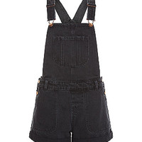 Black Denim Short Dunagrees