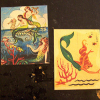 retro mermaid patches vintage 1950's pin up girl sew on patch nautical rockabilly