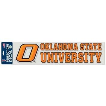 "Licensed Oklahoma State Cowboys NCAA 4""x17"" Perfect Cut Car Decal Wincraft 480378 KO_19_1"