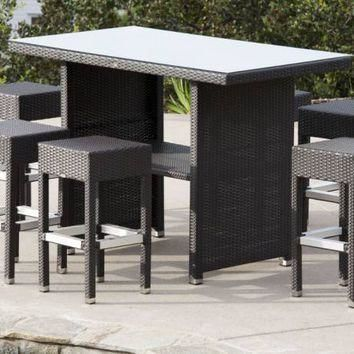 Vertigo Bar Set With Pandora Stools | Outdoor Commercial Bar Stools | Babmar.com
