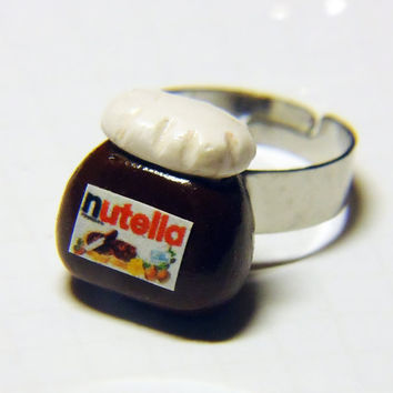 NUTELLA RING - adjustable - made to order