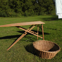WOOD ironing board/Vintage Ironing Board/Home Decor/Garden Decor/Serving Table