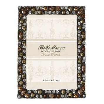 Belle Maison Jeweled 5'' x 7'' Frame (Brown)