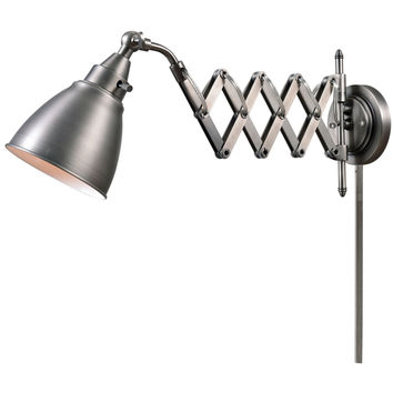 Kenroy Home 32197ANI Floren Swing Arm Lamp, Antique Nickel