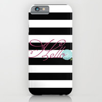 Modern Chic Floral Hello iPhone & iPod Case by Doucette Designs