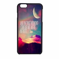 Perks Of A Wall Flower Quote Design Vintage Retro iPhone 6 Case