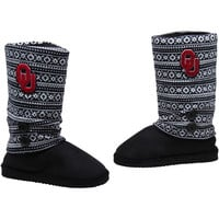 Oklahoma Sooners Ladies Retro Boots - Black/White