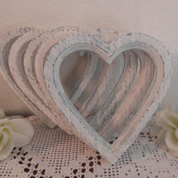 White Wedding Frame Shabby Chic Distressed Heart Picture Photo Decoration Rustic Romantic Home Decor Valentines Day Wedding Gift for Her