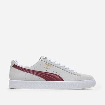 Puma Clyde Premium Core 362632 005 | White/Cabernet | Footwear - Naked
