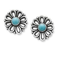 De Flores Ear Posts with Turquoise | James Avery