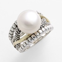 Women's LAGOS 'Luna Pearl - Unlaced' Ring - Gold/ Pearl
