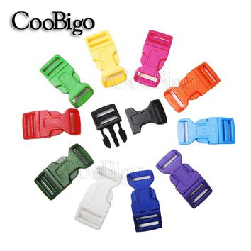 "10pcs Pack 5/8"" Side Release Buckles Curved Plastic Colorful Paracord Bracelets Dog Collar Backpack Bag Parts #FLC009(Mix-s)"