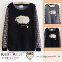 New Fluffy Sheep Korean Style Round-Neck Sweater 2 Colors KK305