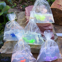 6 Pack Fish in a Bag Soap 4 oz - Fun Kids Hand or Bath Soap - Birthday Party Favor, Boys Girls Children, Goldfish Soap
