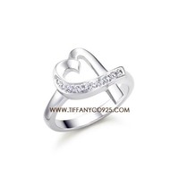 Shopping Cheap Paloma Picasso Loving Heart Ring with Diamonds At Tiffanyco925.com - Discount Tiffany Rings
