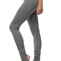 Extra Long Gray Leggings - Special Dance and Yoga Leggings with Spats - Soft Gray Women's Yoga Bottoms