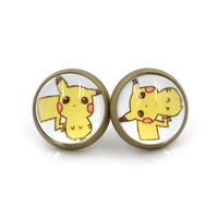 NEW Gem Stud Pokemon Earrings
