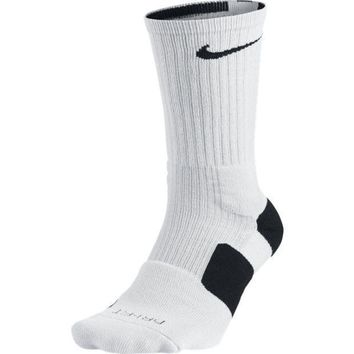 Nike Men`s Dri Fit Elite Basketball Crew Socks