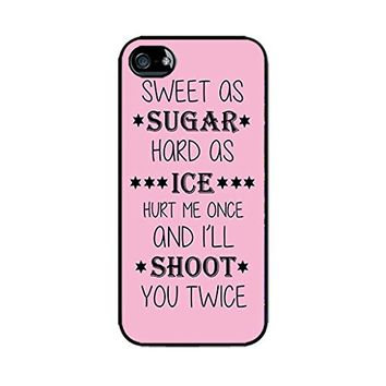iPhone Cases for Girls-Cool Quotes-She Has No Fear of Bad News-Hard Plastic, Protective Black Case, Dust and Scratch Proof for Iphone 6 6S