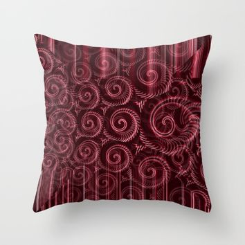 Maroon Decoration #2 Throw Pillow by Moonshine Paradise