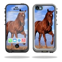Mightyskins Protective Vinyl Skin Decal Cover for LifeProof iPhone 5C Case fre Case wrap sticker skins Horse