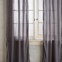 Cotton Tie-Top Curtain