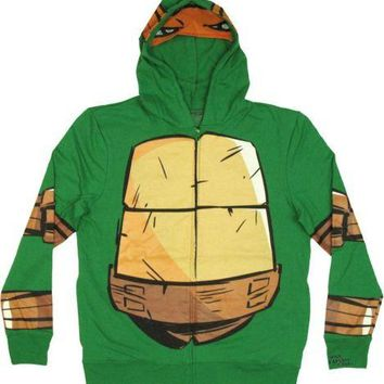 Teenage Mutant Ninja Turtles Michelangelo With Mask Zip Up Hoodie