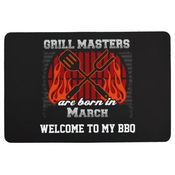 Grill Masters Are Born In March Personalized Floor Mat