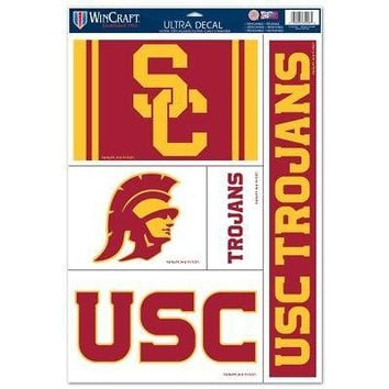 "Licensed USC Trojans NCAA 11"" x 17"" Car Window Cling Decal Southern Cal Wincraft 145161 KO_19_1"