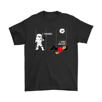 PEAP3CR Star Wars Star Trek A Stormtrooper And A Redshirt In A Fight Shirts