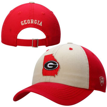 Georgia Bulldogs Top of the World Statesman Two-Tone Adjustable Hat – Red