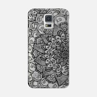 Shades of Crystal Grey Transparent Doodle Galaxy S5 case by Micklyn Le Feuvre | Casetify