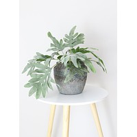 "Fake Split Philodendron Leaves Plant - 16"" Tall"