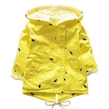 2018 Spring Autumn Baby Coat Outwear Children's Jackets Clothes Casco Infants Outerwear Girl Hoody Cardigan Trench Coat