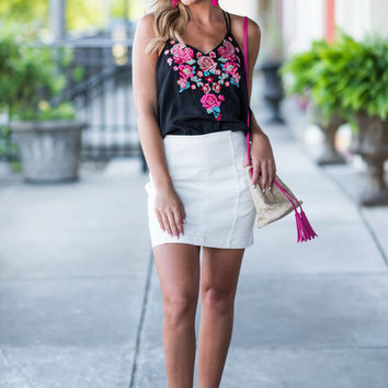 Sleek And Sweet Skirt, White