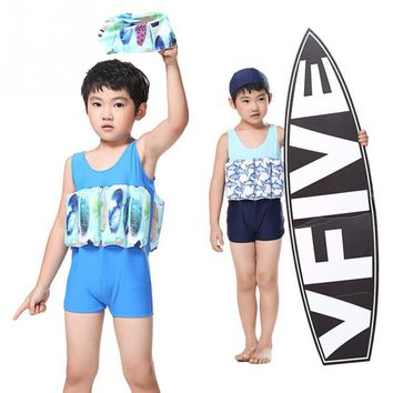 Professional Buoyant Vest Swimming Suits Children Swimwear Buoyancy Swimsuit Collapsible for Kids Boys Girls Swimming Aid
