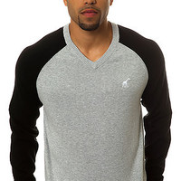 Core Collection Raglan V-Neck Sweater in Ash Heather?