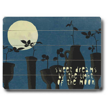 Sweet Dreams by Artist Lisa Weedn Wood Sign