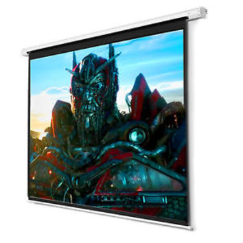 """119"""" Manual Projector Screen 84""""X84"""" Pull Down Projection Home Movie Theater"""
