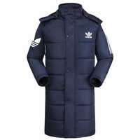Adidas Women Men Fashion Casual Hooded Cardigan Jacket Coat Windbreaker-10