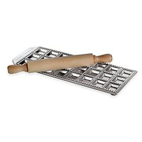 Paderno® Ethnic Cuisine 24-Imprint Ravioli Mold and Rolling Pin Set