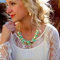 Have It Your Way Necklace {Mint/Gold}
