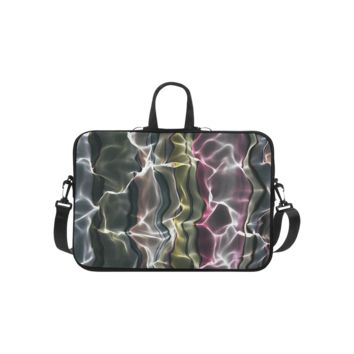 Personalized Laptop Shoulder Bag Abstract Wavy Mesh Macbook Pro 13 Inch