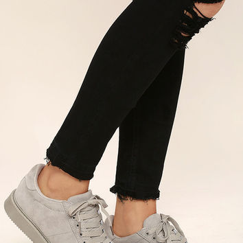 My City Light Grey Suede Sneakers